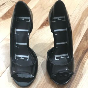 "Elle 3"" Black Patent Leather Heels"